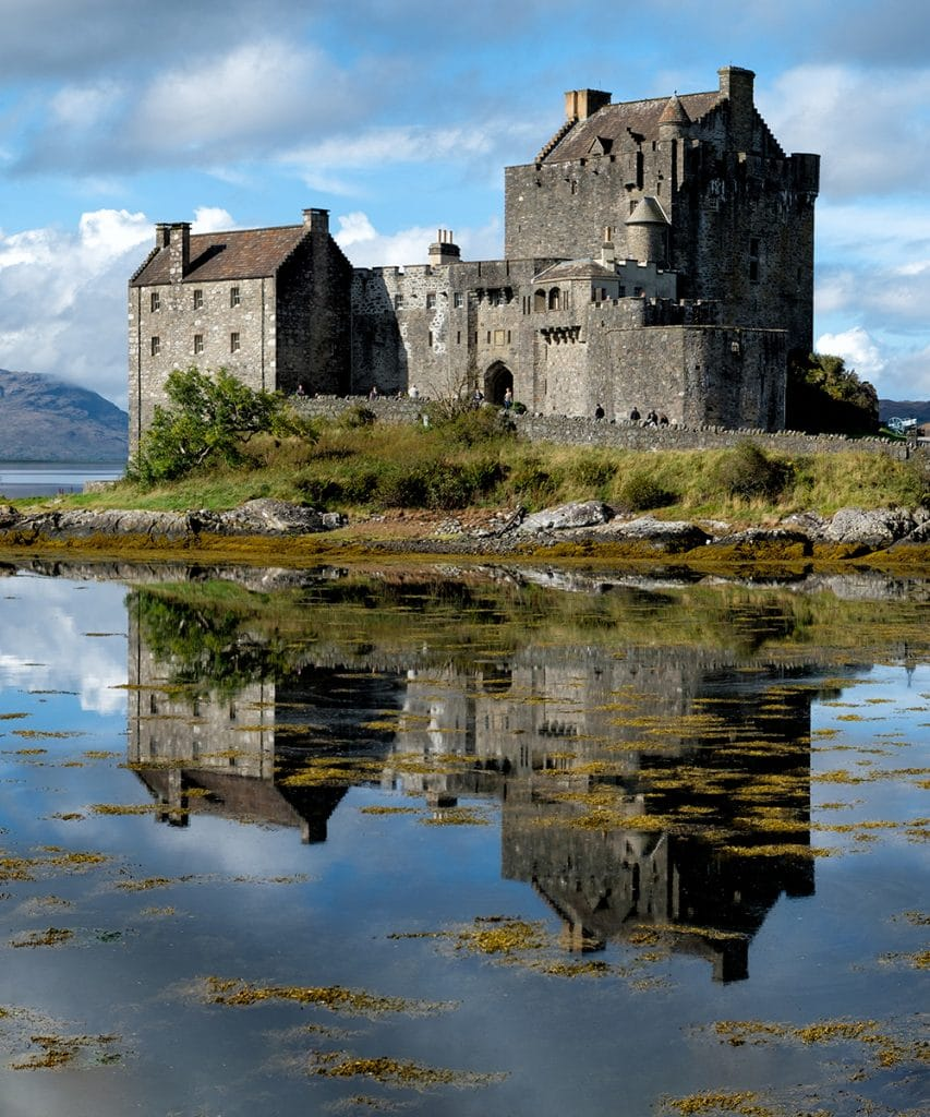 The Scottish Castle of Eilean Donan. Visited on many Scottish tours