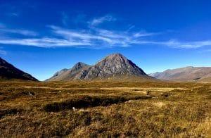 Glencoe mountains on a private tour from Edinburgh