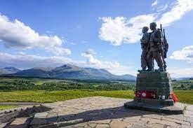 Commando Memorial of the road to Skye